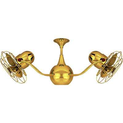Vent-Bettina 42 in. Indoor/Outdoor Gold Ceiling Fan with Wall Control
