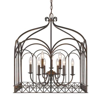 Gateway 9-Light Fired Bronze Chandelier