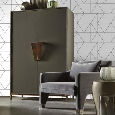 Black and White Kellys Geo Removable Wallpaper