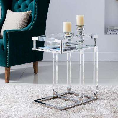 Donner Polished Nickel Arylic C-Table