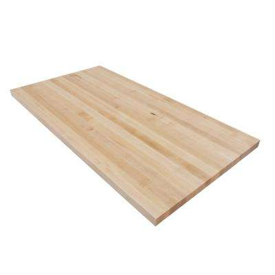 4 ft. L x 2 ft. 1 in. D x 1.5 in. T Butcher Block Countertop in Finished Maple