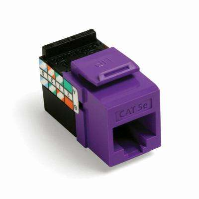 QuickPort GigaMax CAT 5e T568A/B Wiring Connector, Purple