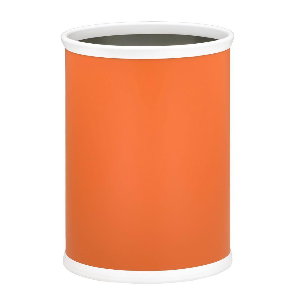 Bartenders Choice Fun Colors Spice Orange 13 Qt. Oval Waste Basket