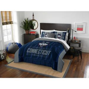 Uconn Navy and Gray Modern Take Full and Queen Comforter Set by