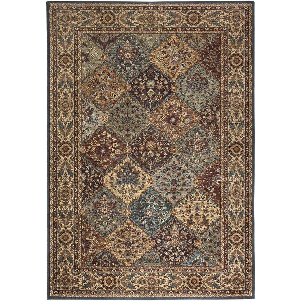 Rizzy Home Bellevue Collection Black Tan 2 Ft X 8 Ft Area Rug Bv