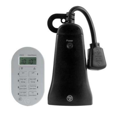Simple Set Indoor/Outdoor 2-Outlet Wireless Timer System