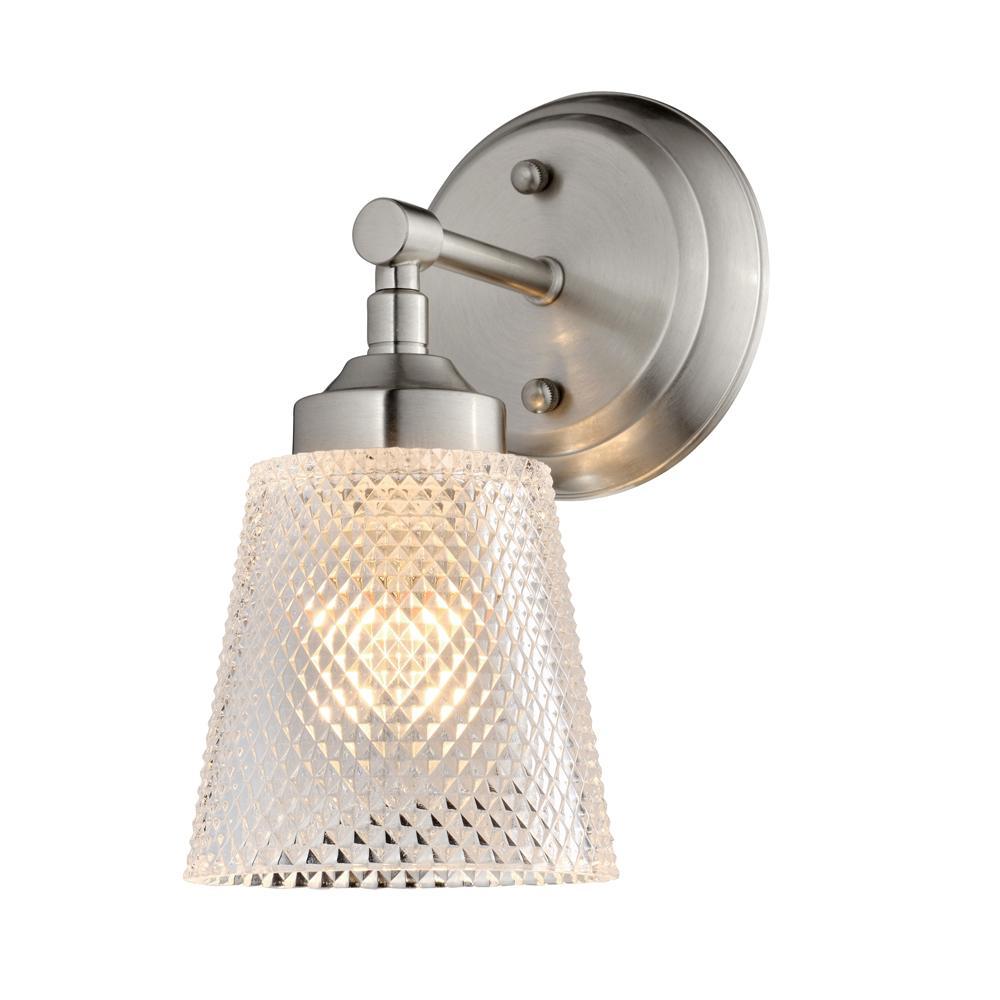 Westport 1-Light Brushed Nickel Bath Light