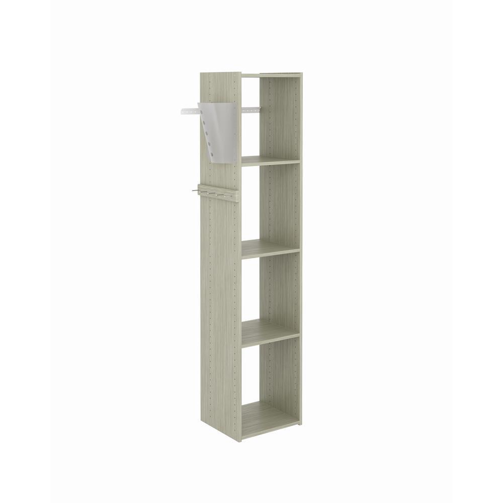 watch a083d 04dc1 Closet Evolution 14 in. D x 15.65 in. W x 72 in. H Rustic Grey Wood Utility  Closet Kit