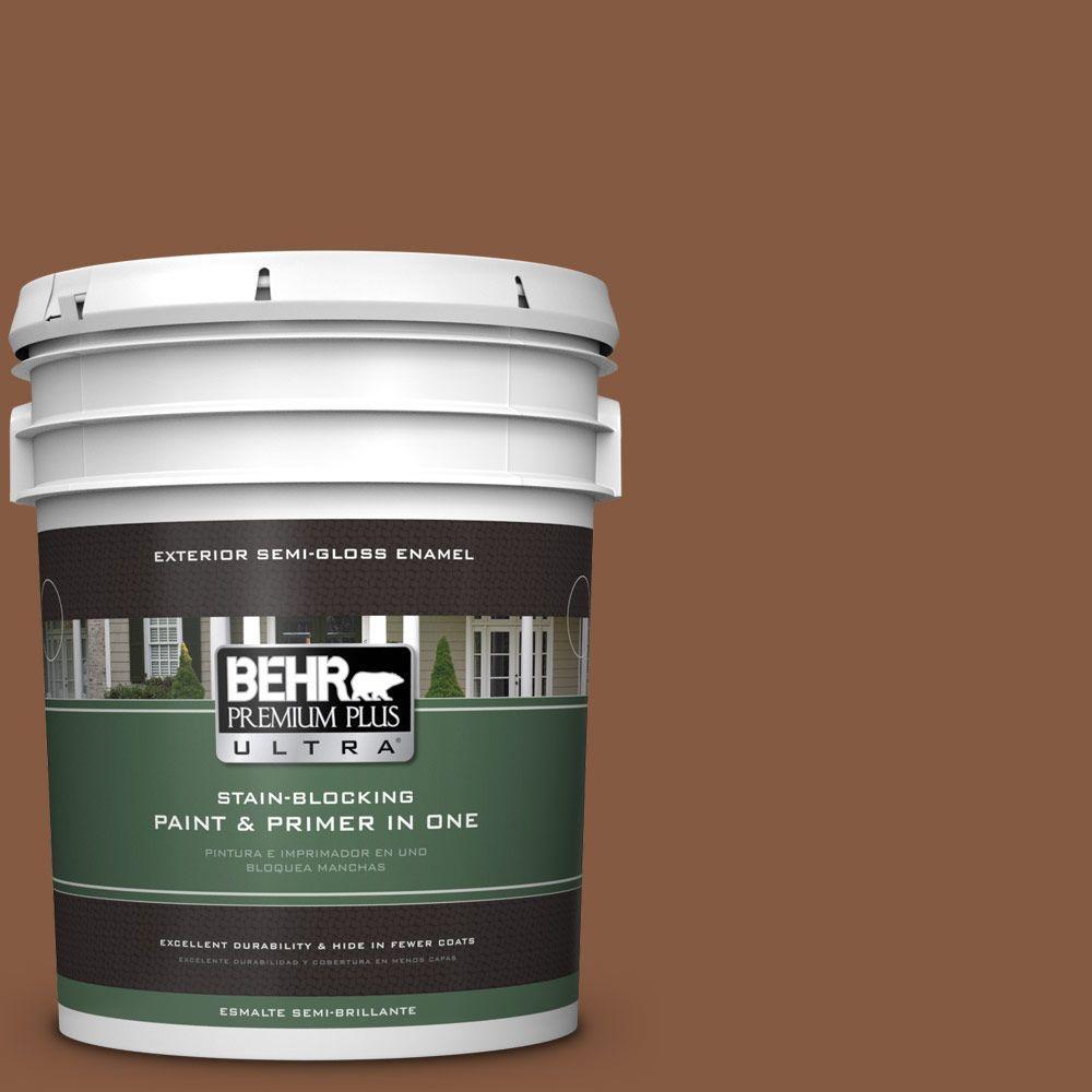 5-gal. #ICC-80 Cinnamon Spice Semi-Gloss Enamel Exterior Paint