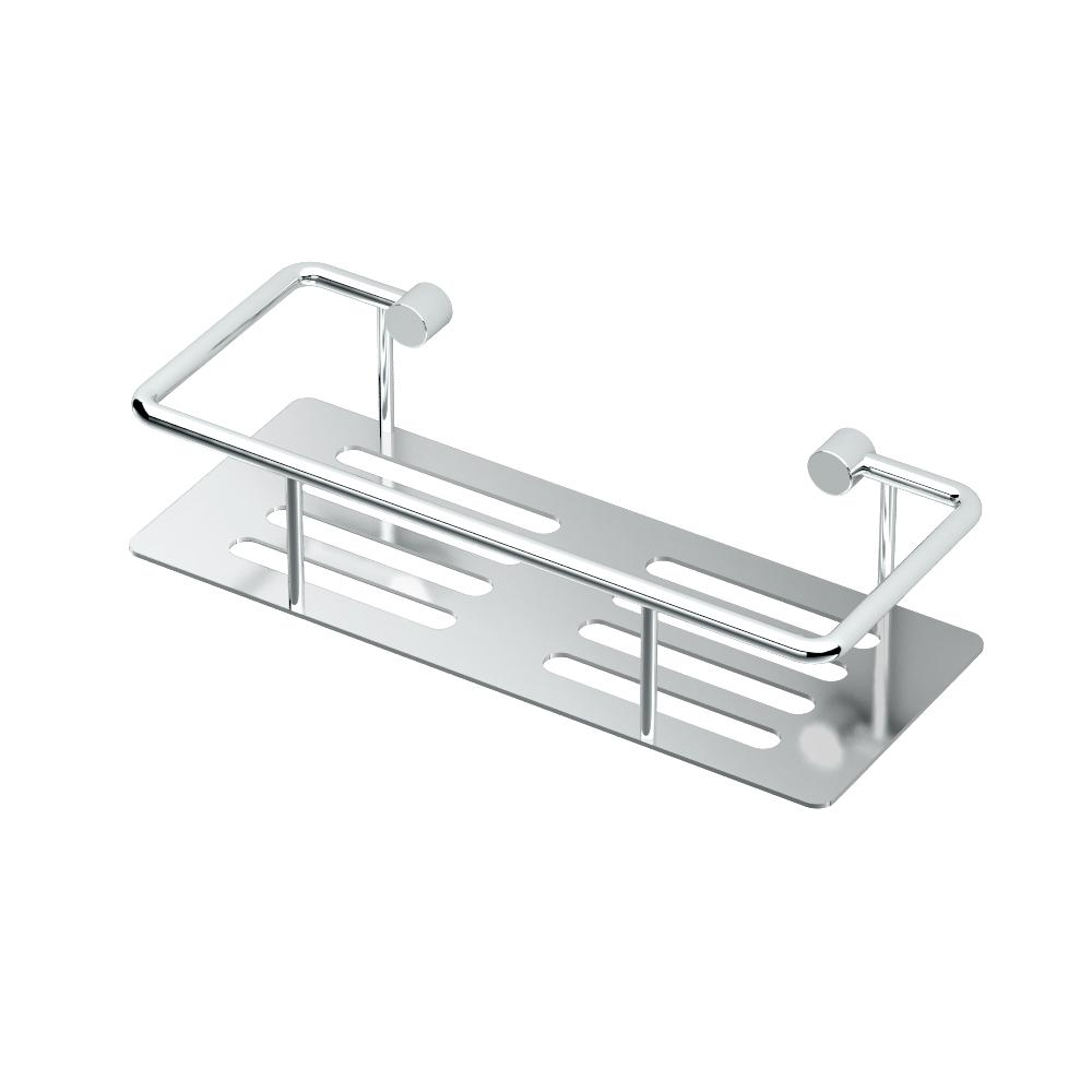 Elegant 10 in. Shower Shelf in Satin Nickel