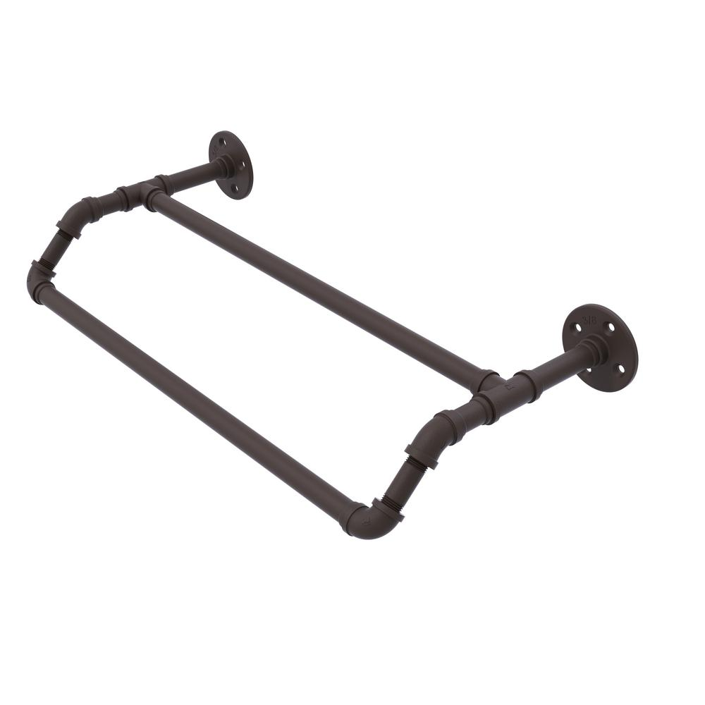 Pipeline Collection 24 in. Double Towel Bar in Oil Rubbed Bronze