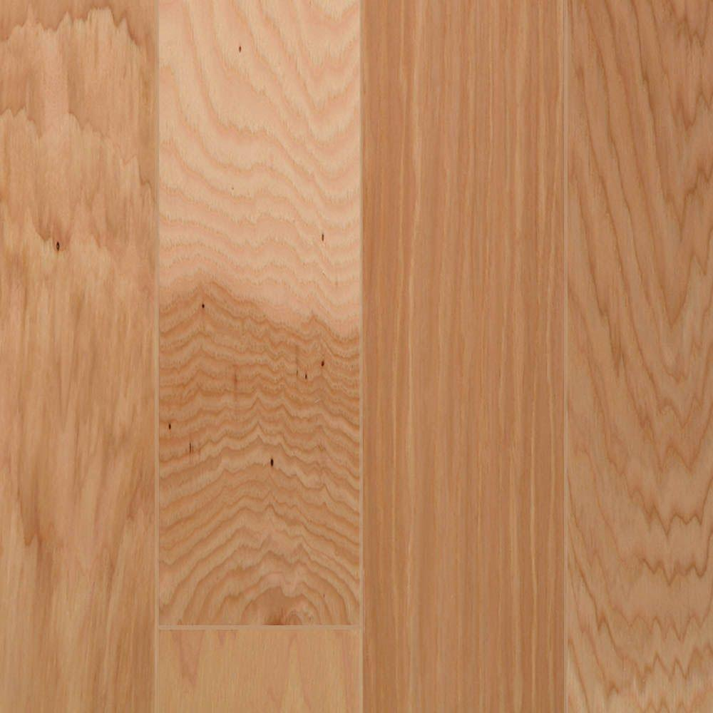 Millstead Take Home Sample Hickory Natural Engineered Click Hardwood Flooring 5 In. X 7 In.