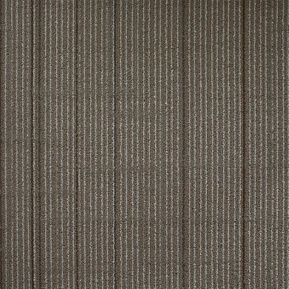 Ellis Transfer Grey Loop 19.7 in. x 19.7 in. Carpet Tile