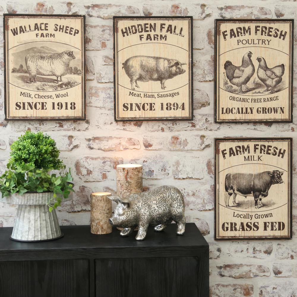 "16.50 in. x 13.50 in. ""Farm Fresh Theme"" Printed Wall Art"