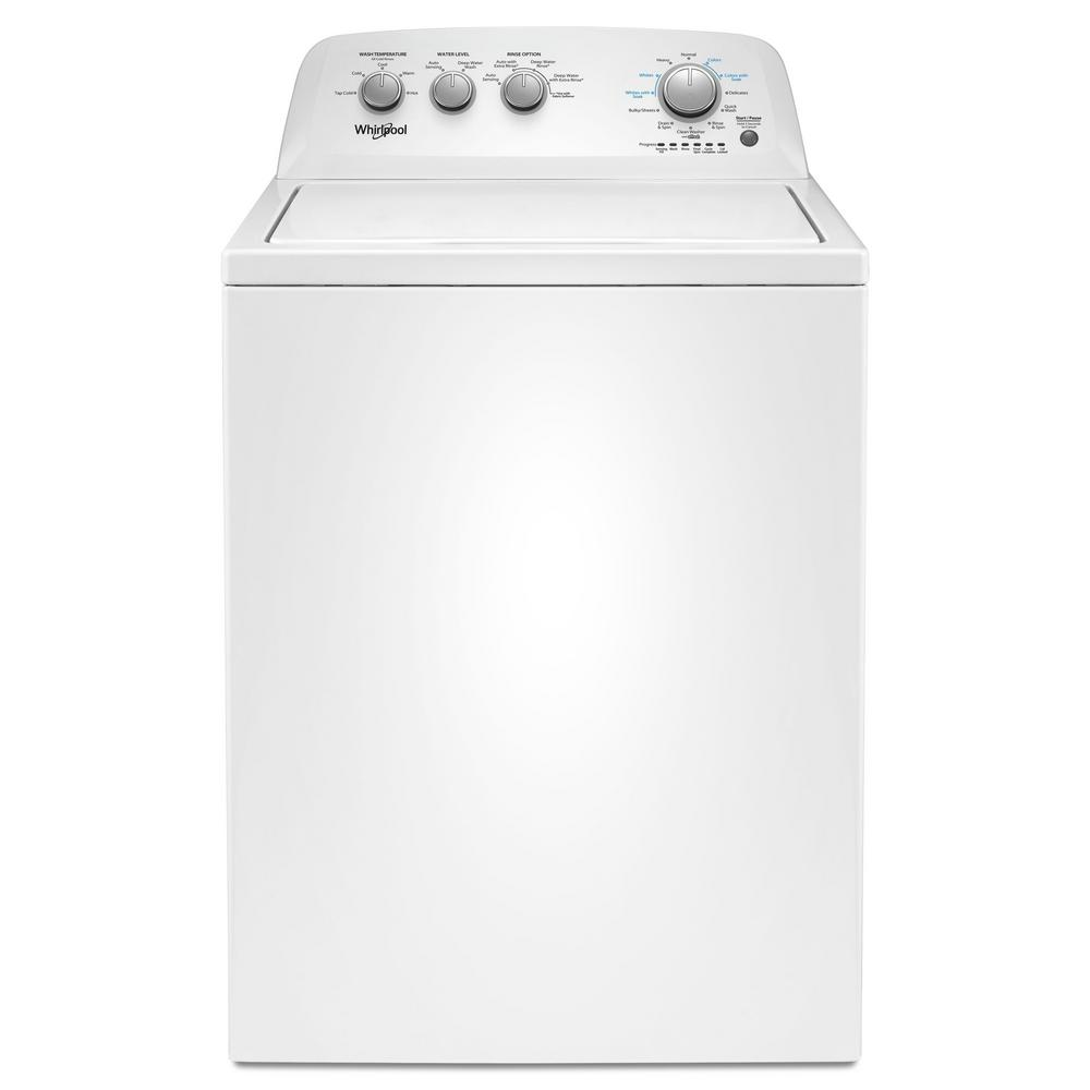 Whirlpool 3 8 Cu Ft White Top Load Washing Machine With Soaking Cycles