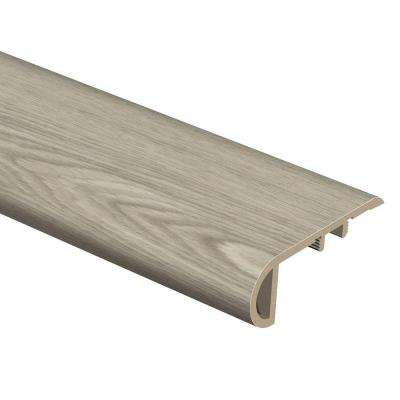 Stratford Oak/Quiet Oak 3/4 in. Thick x 2-1/8 in. Wide x 94 in. Length Vinyl Stair Nose Molding