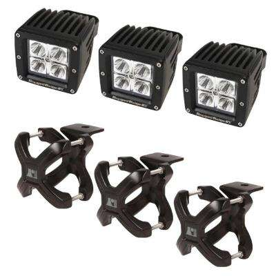 2.25 in. to 3 in. X-Clamp Light Mount and 3 in. Square LED Light Kit (3-Pack)