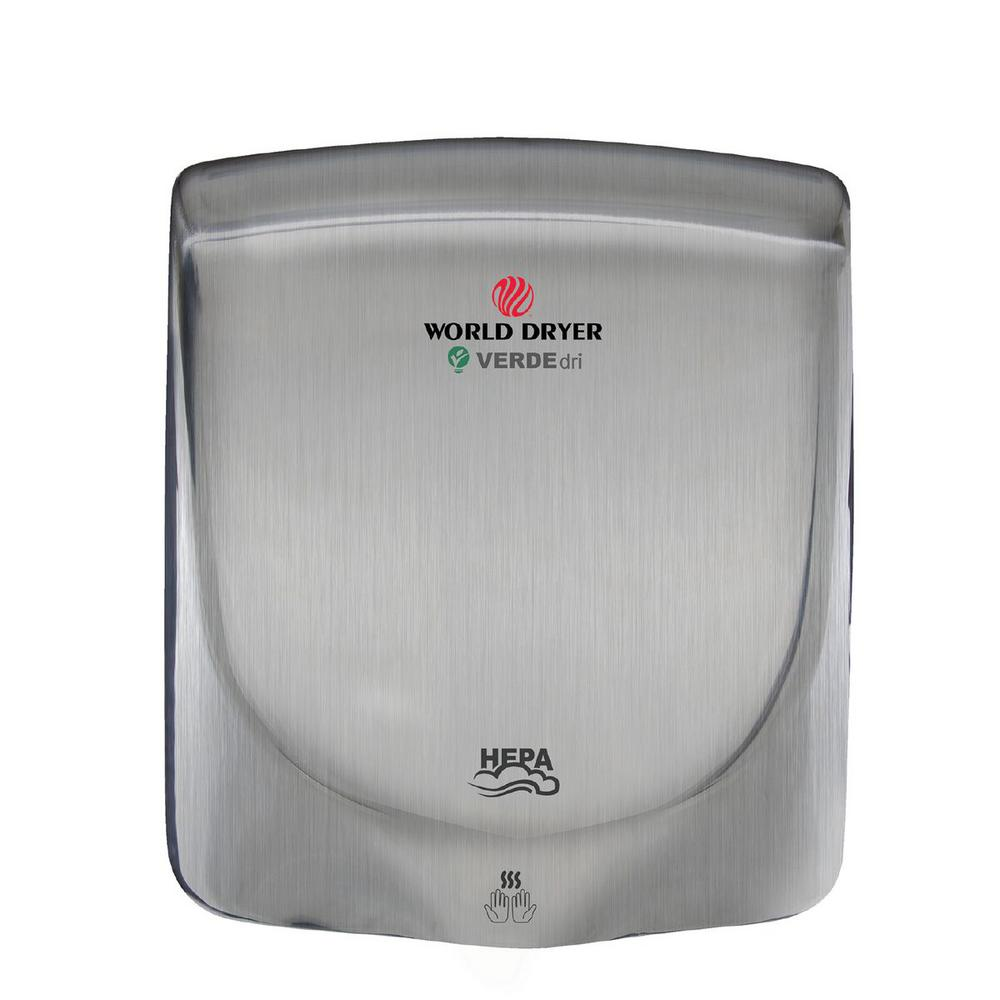 Brushed Stainless Steel Electric Hand Dryer