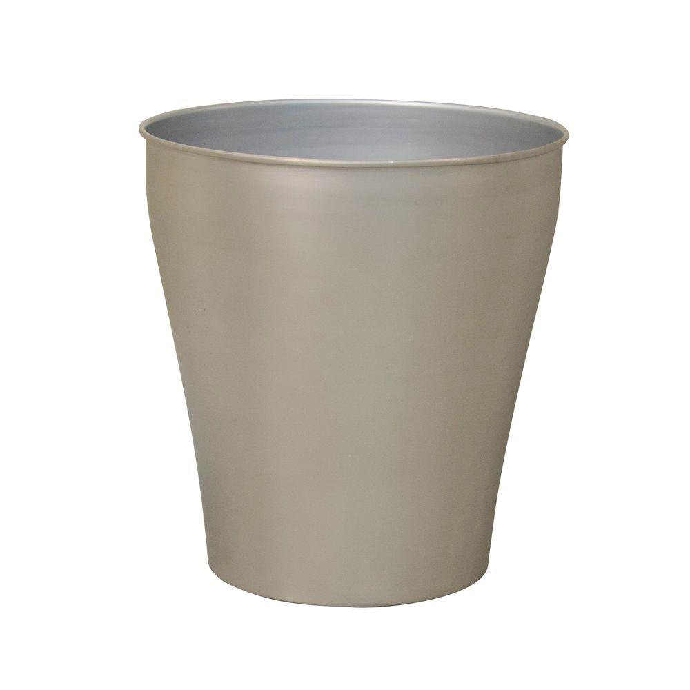 Moorefield Beacon Waste Basket in Brushed Nickel