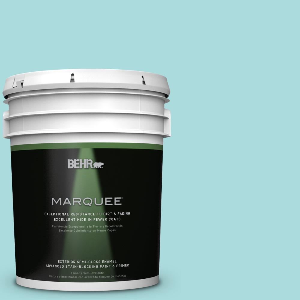 5-gal. #M460-2 Beachside Drive Semi-Gloss Enamel Exterior Paint