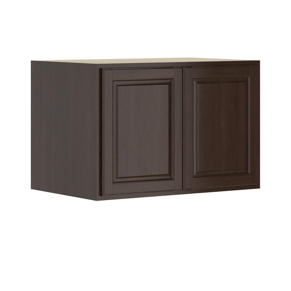 Madison Base Cabinets In Cognac: Hampton Bay Madison Assembled 36x24x24 In. Wall Deep