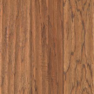 Mohawk hickory chestnut scrape 3 8 in thick x 5 1 4 in for Hardwood flooring nearby
