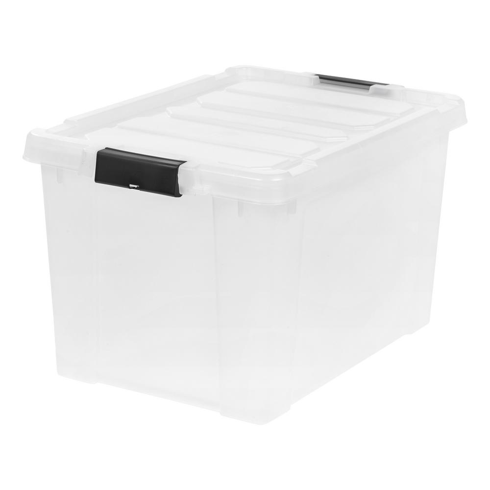 IRIS 18 Gal. Store-It-All Storage Bin in Clear  sc 1 st  Home Depot & IRIS 18 Gal. Store-It-All Storage Bin in Clear-250271 - The Home Depot