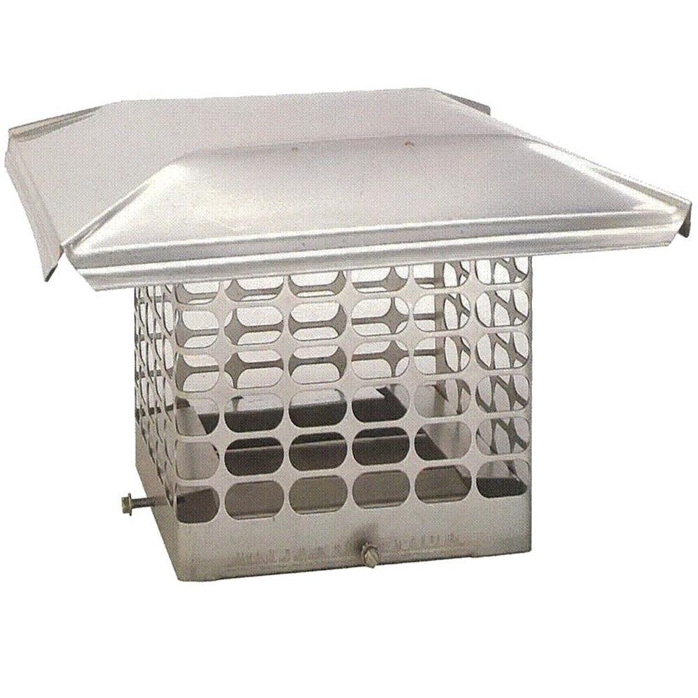 The Forever Cap 9 in. x 9 in. Adjustable Single Flue Stainless Steel Chimney Cap