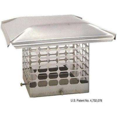 9 in. x 9 in. Adjustable Single Flue Stainless Steel Chimney Cap