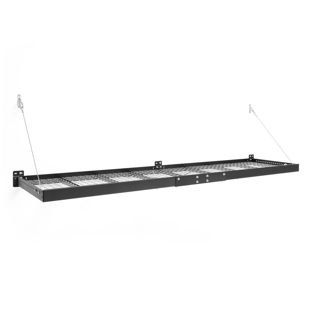 NewAge Products Pro Series 2 ft. x 8 ft. Wall Mounted Steel Shelf in Black