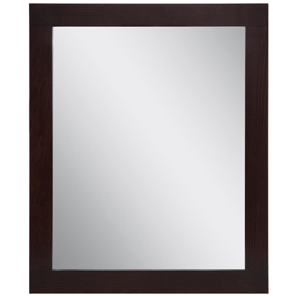 Westcourt 25.67 in. W x 31.38 in. H Framed Wall Mirror in Chocolate