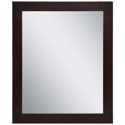 Westcourt 26 in. W x 31 in. H Framed Wall Mirror in Chocolate