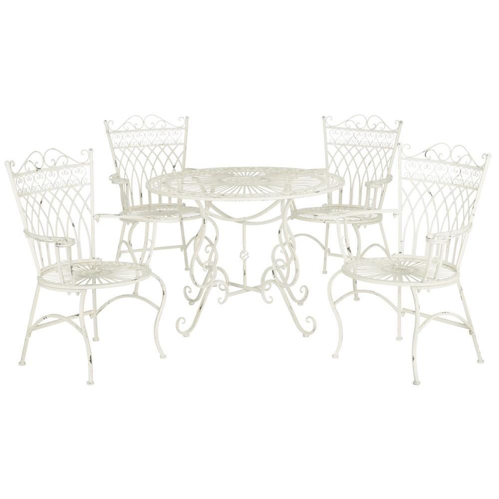 White Wrought Iron Patio Dining, White Outdoor Wrought Iron Patio Furniture