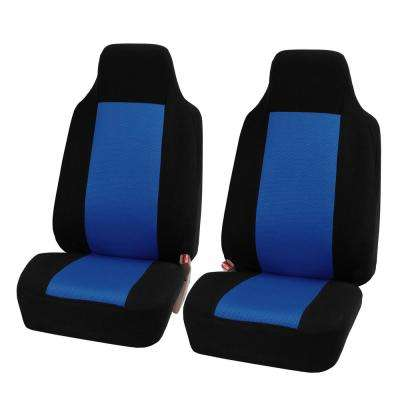 Sandwich Fabric 47 in. x 23 in. x 1 in. Half Set Front Seat Covers