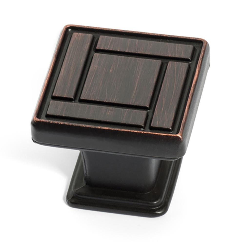 Dynasty 1-1/8 in. Oil Rubbed Bronze Arts and Crafts Cabin...