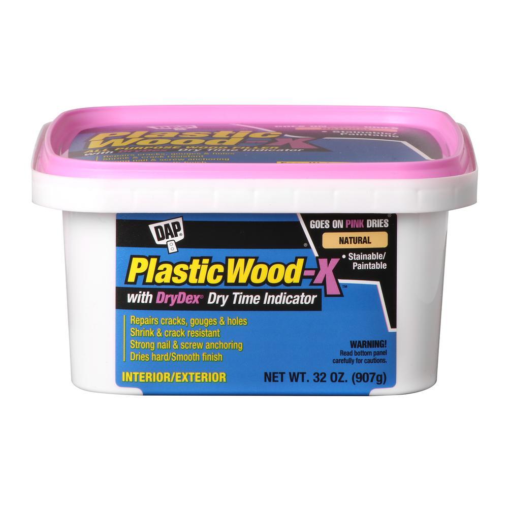 DAP Plastic Wood-X with DryDex Nat QT (4-Pack)