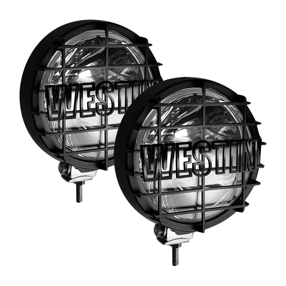 Premier 6 in Quartz-Halogen Off-Road Lights w/Grid Black (Set of Two) - Black