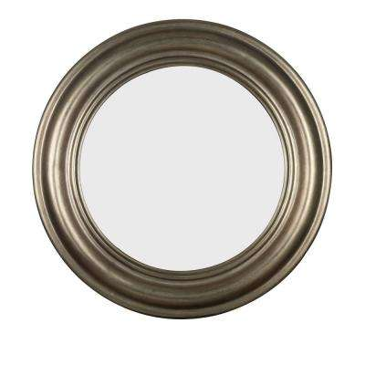 Nob Hill 32 in. Round Polyurethane Framed Mirror
