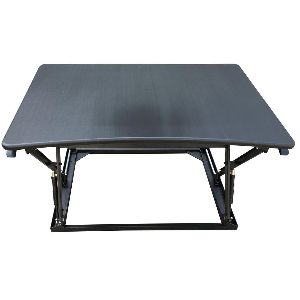42 in. Black Desktop Adjustable Sit to Stand Desk