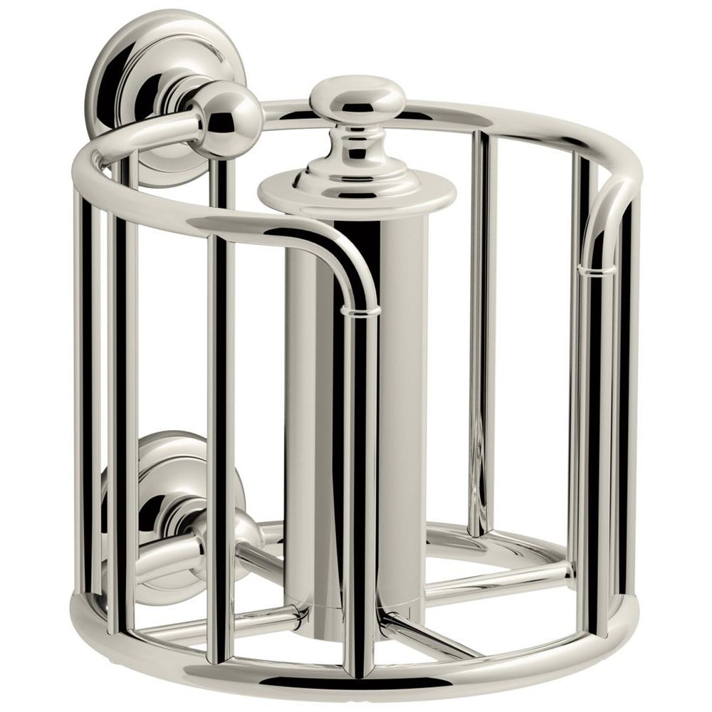 Artifacts Double Post Toilet Paper Holder in Vibrant Polished Nickel