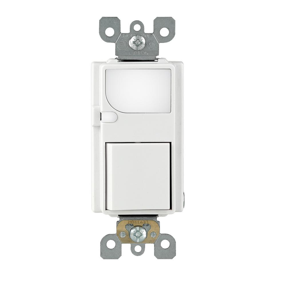 Decora 15 Amp Residential Grade Combination Rocker Switch and LED Guide