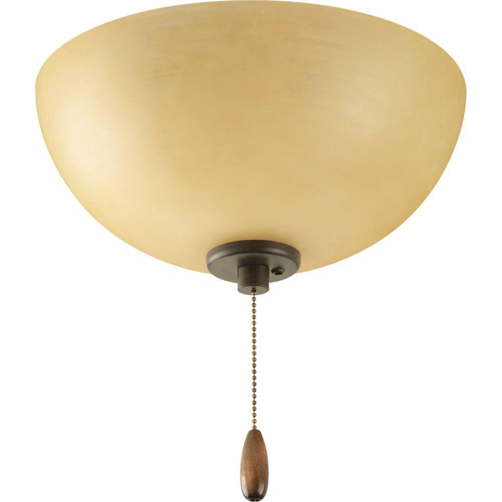 Bravo Collection 3-Light Antique Bronze Ceiling Fan Light