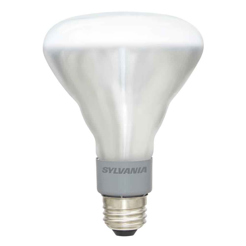65-Watt Equivalent BR30 Dimmable Energy Saving Household LED Light Bulb Warm White (4-Pack)