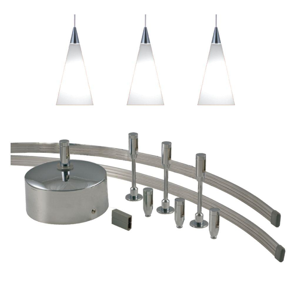 Jesco lighting 96 in low voltage 150 watt monorail kit with 3 white low voltage 150 watt monorail kit with 3 white mozeypictures Image collections