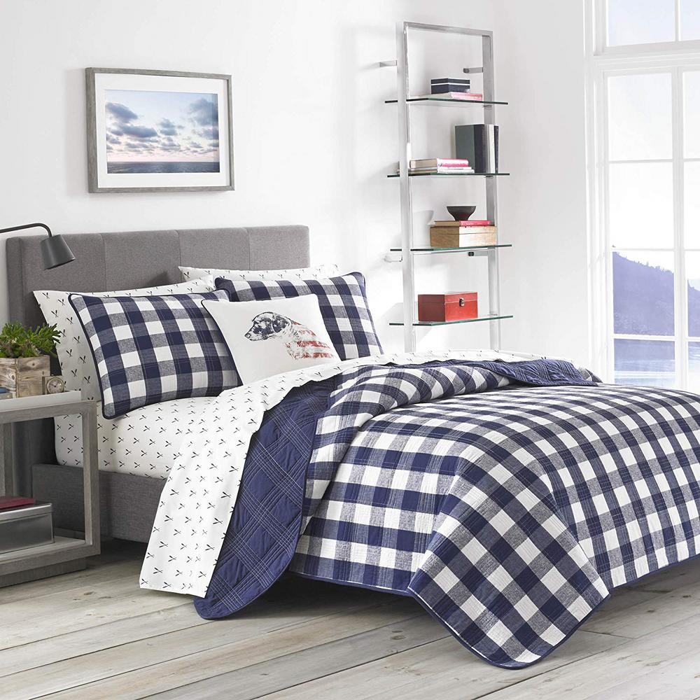 Eddie Bauer Lake House Navy Twin Quilt Set (2-Piece)