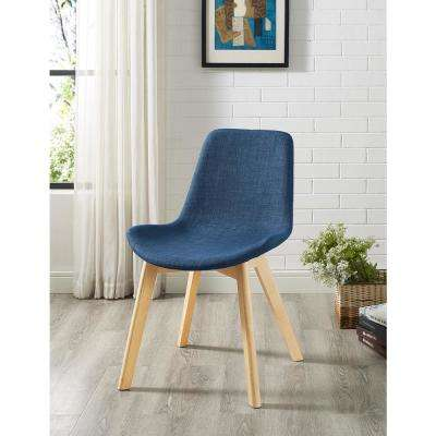 Blue Upholstered Side Chair