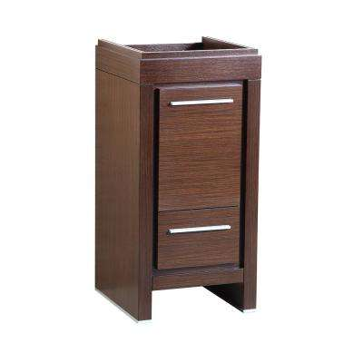 Allier 16 in. Modern Bathroom Vanity Cabinet in Wenge Brown