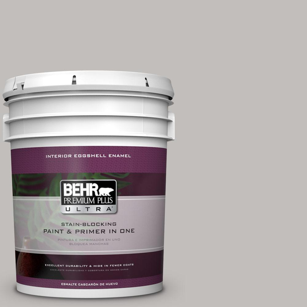 5 gal. #HDC-WR15-3 Noble Gray Eggshell Enamel Interior Paint