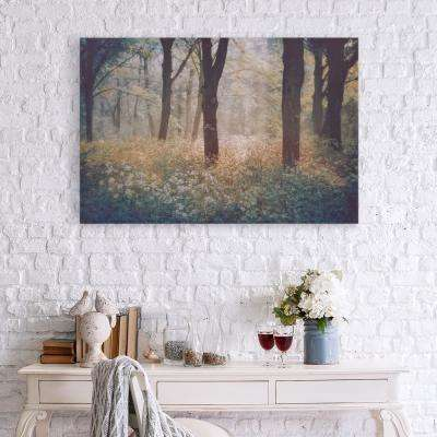 Meadow in a Forest Canvas Wall Art