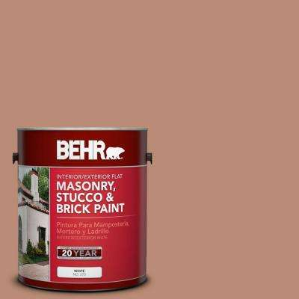 1-gal. #MS-04 Barely Dawn Flat Interior/Exterior Masonry, Stucco and Brick Paint